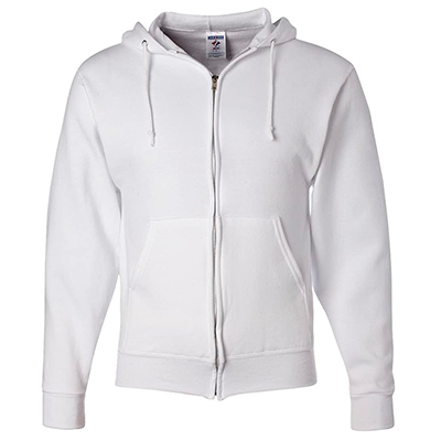 Jerzees NuBlend® Full-Zip Hooded Sweatshirt white
