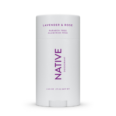 Native Deodorant Lavender & Rose Aluminum Free Long Lasting 2.65 Oz