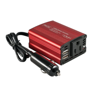Foval 150w Car Power Inverter Dc 12v To 110v Ac Converter With 3.1a Dual Usb Car Red.