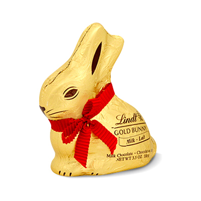 Lindt Easter GOLD BUNNY, Hollow Milk Chocolate Bunny, 3.5 Oz. - Lindt