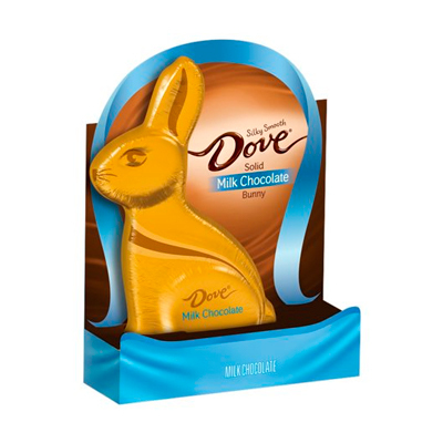 MILK CHOCOLATE SILKY SMOOTH SOLID BUNNY, MILK CHOCOLATE - Dove