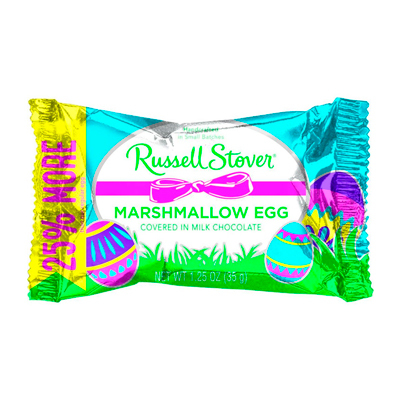 MARSHMALLOW EGG COVERED IN MILK CHOCOLATE 1.25 Oz - Russell Stover
